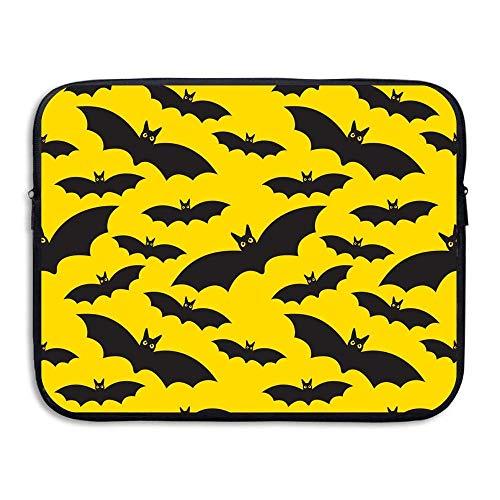 laehxin 13 15 Inch Best Graphic Halloween Bats Seamless Pattern Laptop Sleeve Bag Water Resistant]()