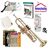 Homeschool Music - Learn to Play the Trumpet Pack (Rock Jams Music Book Bundle) - Includes Student Trumpet w/Case, DVD, Books & All Inclusive Learning Essentials