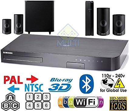 Samsung región libre HT-J5500 Smart Blu-ray sistema de cine en casa de 5.1 canales – 3d – Wi-Fi – Multi Zone todos región reproductor de BLU RAY Disc DVD – PAL/NTSC –