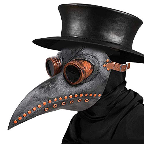 Plague Doctor Mask - Long Nose Bird Beak Steampunk Halloween Costume Props Mask]()