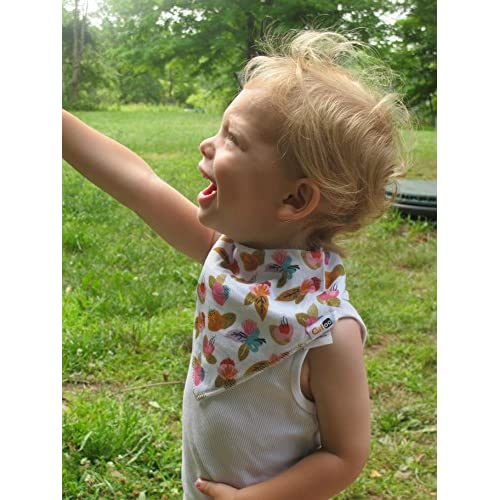 "Baby Bandana Drool Bibs for Girls,""Floral"" 10-Pack with Adjustable Snaps for Baby Shower Gift, 100% Organic Cotton, Soft, Absorbent and Stylish for Drooling and Teething Baby and Toddler by Gifoo!"