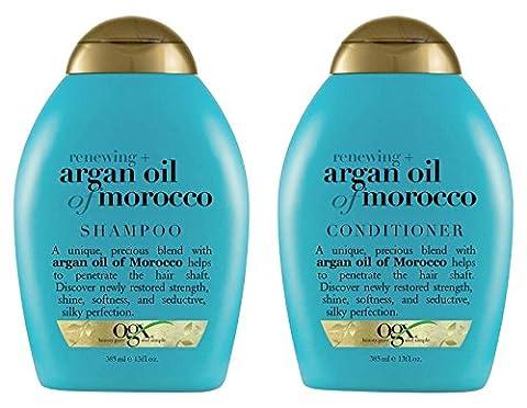 (OGX) Organix Shampoo Moroccan Argan Oil + conditioner, 13 oz combo (Organix Argon Oil Conditioner)