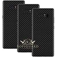 SopiGuard Samsung Note 8 Carbon Fiber Rear Panel Precision Edge-to-Edge Coverage Easy-to-Apply Vinyl Skin Sticker (Honeycomb Black)