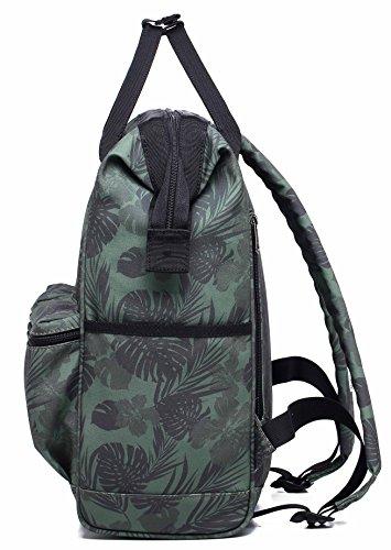 HotStyle DISA Mochila Tropical Bolsas Mujer para Notebook 14-inch (44x27x17cm) - Flamencos tropicales D191E, Tropical, Oliver