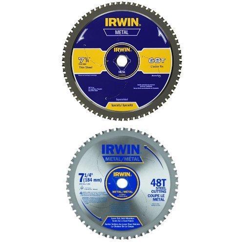 Disco Sierra IRWIN Corte de metal 7 1/4 68T y 7 1/4 x 48T