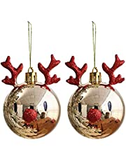 2 STKS Kerst Opknoping Kerstballen, Kerstboom 3D Decor Ballen Kerstman Elanden Party Opknoping Ornament Snuisterij Drop Hanger Thuis Gift Decoraties