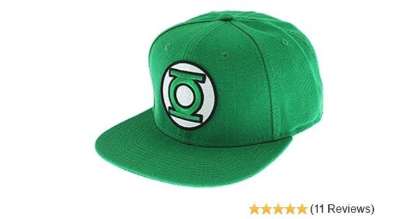 DC COMICS GREEN LANTERN JUSTICE LEAGUE 3D LOGO SNAPBACK HAT CAP FLAT BILL RETRO