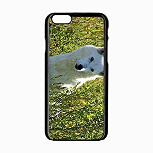 iPhone 6 Black Hardshell Case 4.7inch dogs wolves grass muzzle eyes Desin Images Protector Back Cover