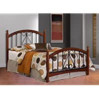 Hillsdale Furniture 1258BQR Burton Way Bed Set with Rails, Queen, Cherry
