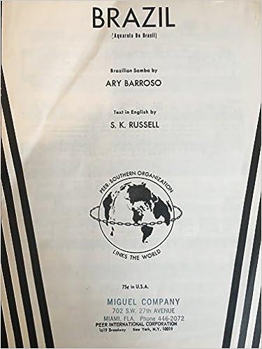 Brazil Aquarela Do Brasil Brazilian Samba By Ary Barroso Text