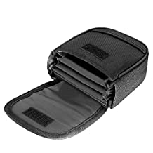 Neewer® 4 Filter Capacity Filter Pouch with Small Belt for Filters Up to 58mm , Made of Compact and Durable Water-Resistant Nylon, Black