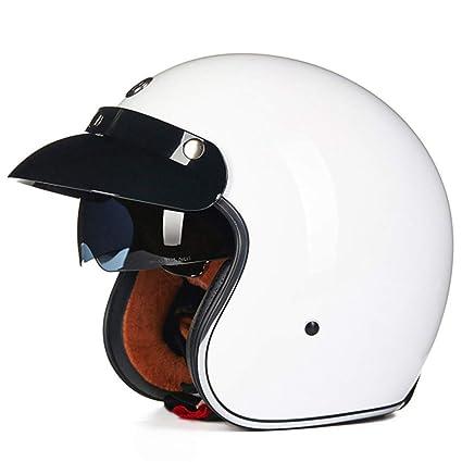 Manufanoongs Retro Harley Open Face Vintage Cruiser Helmet Moto Casque Casco Motocicleta Capacete Helmets Glossy White