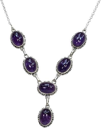 Sterling Silver 925 Lavender Teardrop Amethyst Necklace Adjustable