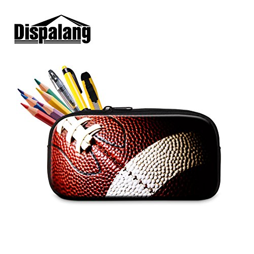 Dispalang Soccer Pencil Bag for Students Cool Zipper Pen Bag for Adults Office by Dispalang