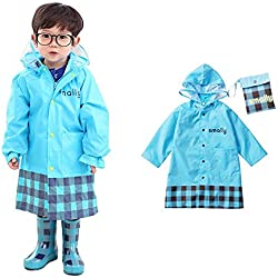 Cartoon Waterproof Children's Raincoat (L, Blue)