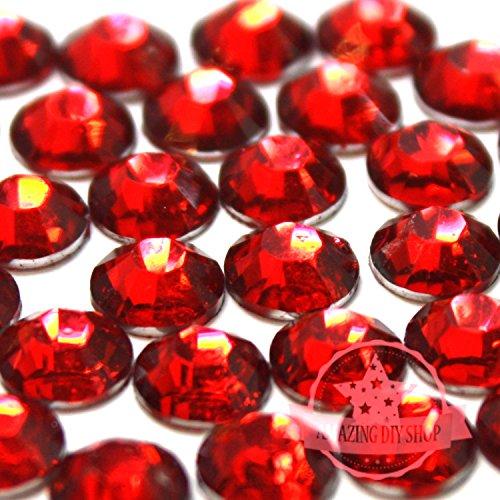 2mm, 3mm,4mm,5mm,6mm DIY Resin Round Flat Back Rhinestones Gems Brilliant 14-Cut Facets Flatback Includes Rhinestones Flat Back Samples from GreatDeal68 (5mm (750 pcs), Light Siam)