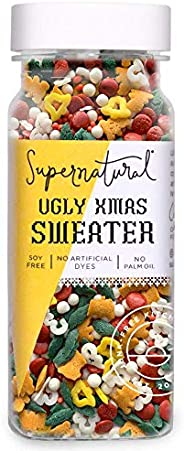 Ugly Xmas Sweater Holiday Sprinkles by Supernatural, Natural Confetti Sprinkles, Gluten-Free, Vegan, No Artifi