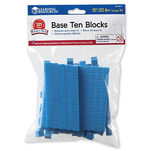 Learning Resources Base Ten Blocks Smart Pack, Early Childhood Math Skills, Ages 5+ ()