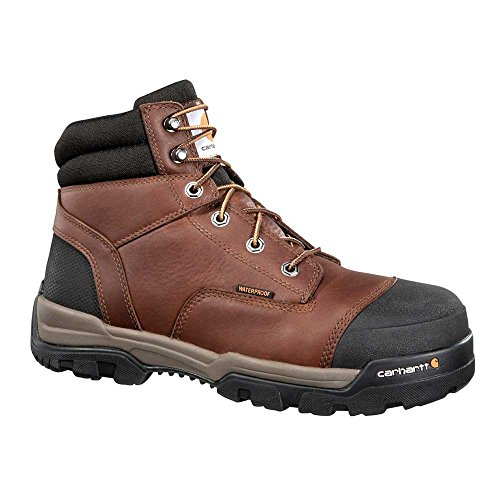 Carhartt Men's Ground Force 6-Inch Brown Waterproof Work Boot - Soft Toe, Peanut Oil Tan Leather,  10.5 W US - New For 2017 - CME6055 ()
