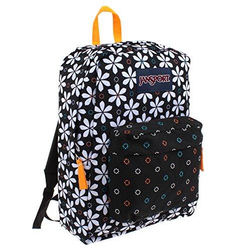 JanSport T501 Superbreak Backpack 2014 Winter Collection (Black Floral Geo)