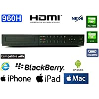 NEXHI NXS-CS04-QR960H-DVR 4CH STANDALONE 960H DVR WITH HDMI & QR READER FOR SMART PHONE EASY ACCESS - H.264 Real-time CCTV Security Surveillance DVR System - iPhone & Android Network Remote Viewing