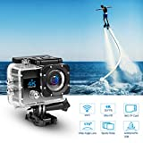 4K Wifi Waterproof Sports Action Video Camera Recorder, 30M...
