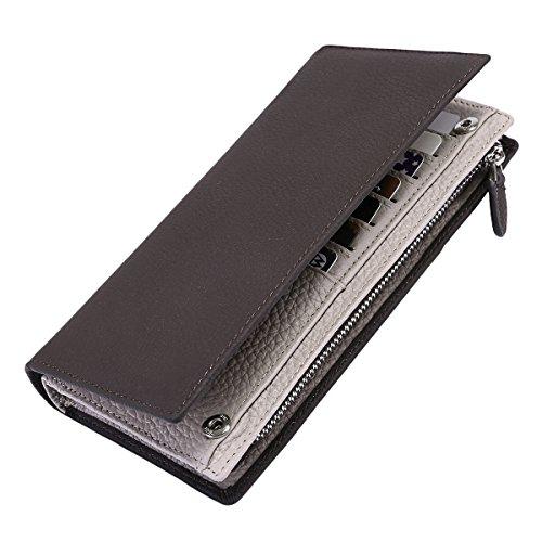Clutch Wallet Mens Leather Bifold Card Holder for men wallets - 8