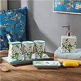 GTVERNH-Recipients Of Gifts Ceramic Bath 5622 Kit Bathroom With Tray White Vanity Set Bathroom Toiletries