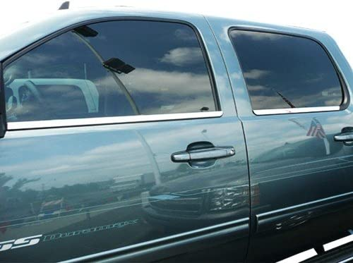 Upgrade Your Auto 4 Piece Chrome Window Sill Trim for 2007-2013 Chevy Suburban//Avalanche