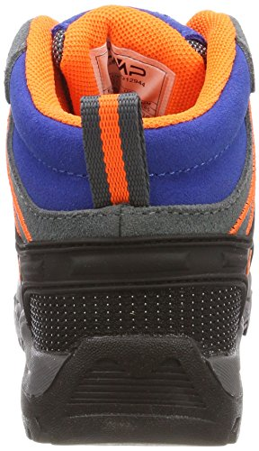 Fluo CMP Zaffiro Rigel Unisex Blue Hiking Rise High orange Grey grey Boots Kids' 7Haxnzw7
