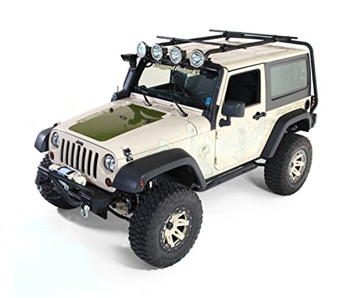 Rugged Ridge 11703.01 Sherpa Roof Rack for 2007-2018 Jeep Wrangler JK, 2-Door Models