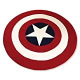 Captain American Rugs Round Shape - Acrylic Fiber Bedroom Bedside Thick Rugs 35 x 35 Inch