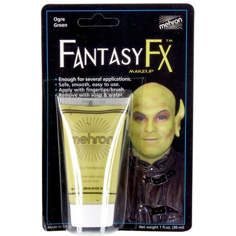 Fantasy Fx Cream Makeup (Mehron Fantasy FX Liquid Makeup - OGRE GREEN 1 oz.)