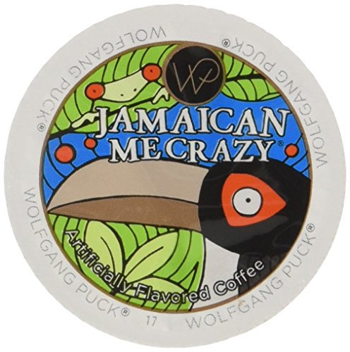 Wolfgang Puck Jamaican Me Crazy Flavored Coffee Single Serve Cups for Keurig, 24 Count (Marley Jamaican Blue Mountain Coffee K Cup)