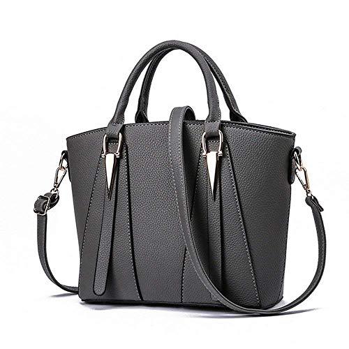 bag tracolla Eeayyygch con colore a scuro tracolla grigio gomma per Borsa rosa mini donna RtFHgZFxnq