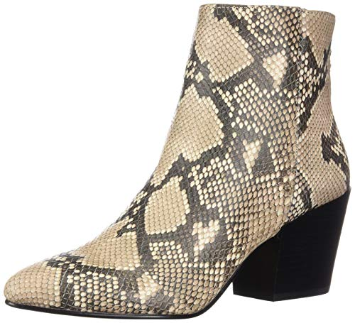 Dolce Vita Women's Coltyn Ankle Boot, Snake Print Embossed Leather, 6 M US
