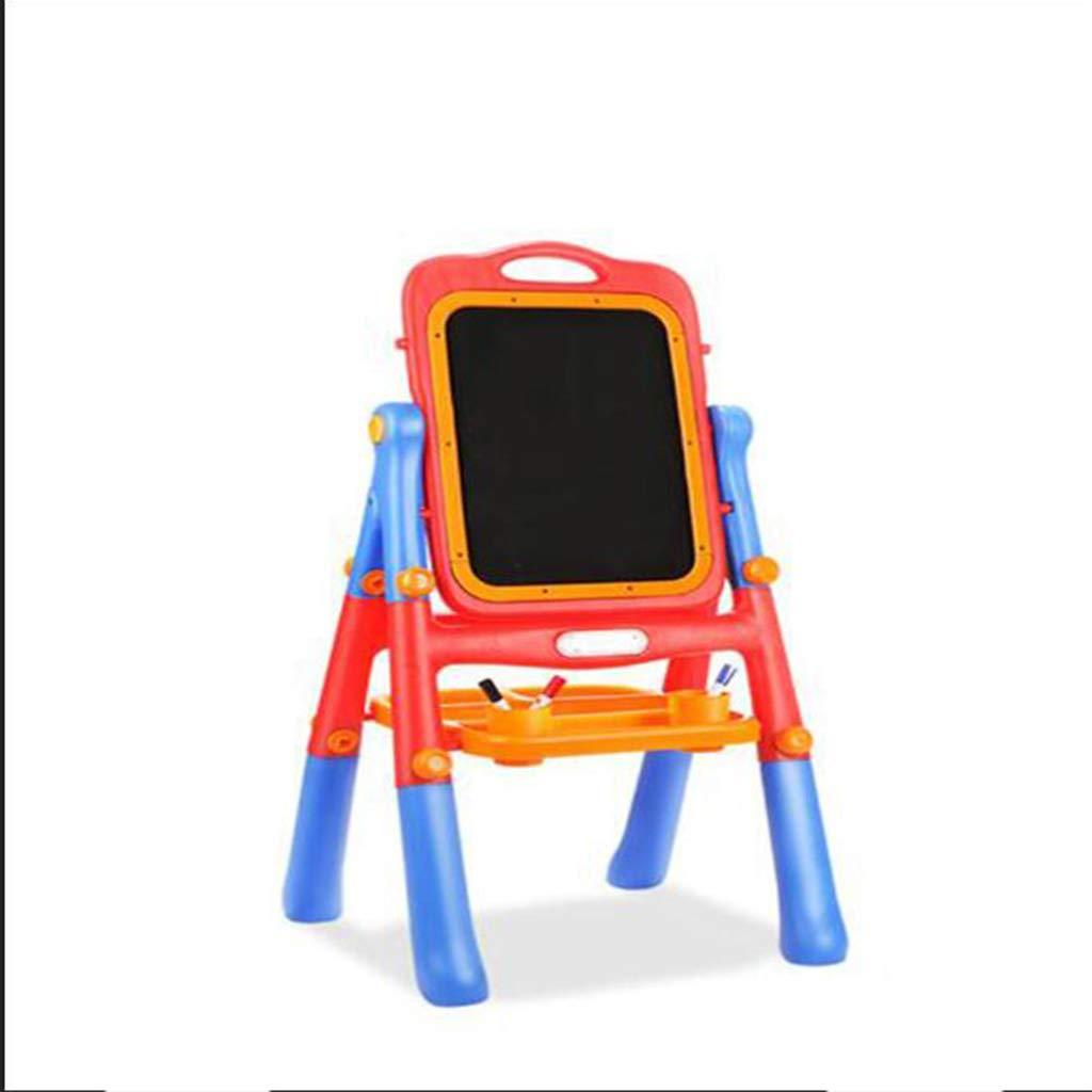 D_HOME Beienshi Tavolo da Disegno per Bambini cavalletto Lavagna Magnetica a Doppia Faccia Bambino Tavolo da Disegno Piccola Lavagna Staffa (106  54  51 cm) (colore   Blu)