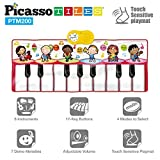 Toys : PicassoTiles PTM200 Portable Large Piano Keyboard Educational Music Mat Playmat w/6 Different Musical Instruments,7 Different Demo Songs,17-Key Piano,Build-In Speaker & Recording Function For Playbac