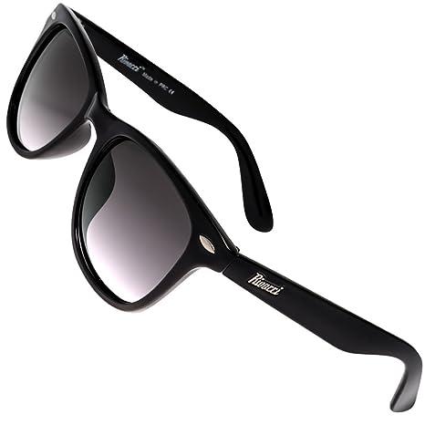 Rivacci Gafas de Sol Polarizadas Hombre Mujer – Marca Retro/Vintage – Lentes Deportivas -Negras/Graduadas Lavanda Polarizado