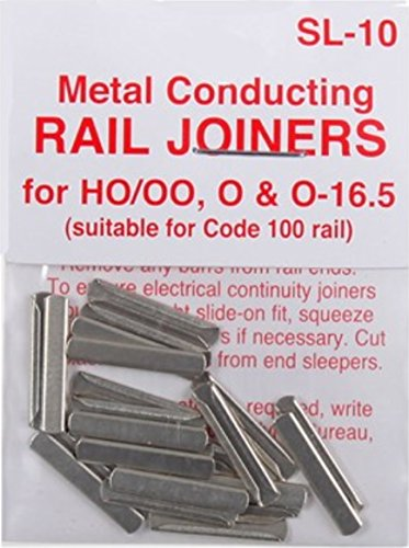 Peco SL-10 HO Code 100 Conductive Rail Joiner 24 Pack - Code 100 Rail Joiners