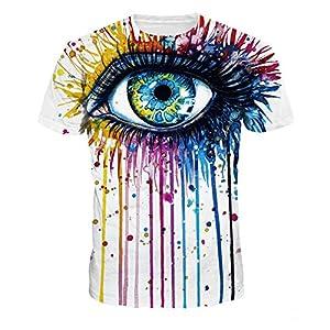 Hulaha Womens Mens 3d Cool Animal Pattern Short Sleeve T-Shirt