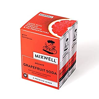 Mixwell Mojave Grapefruit Soda - Premium Mixer for Drinks - Made with Organic and Natural Ingredients - 12 Fl Oz Can (4 Pack)