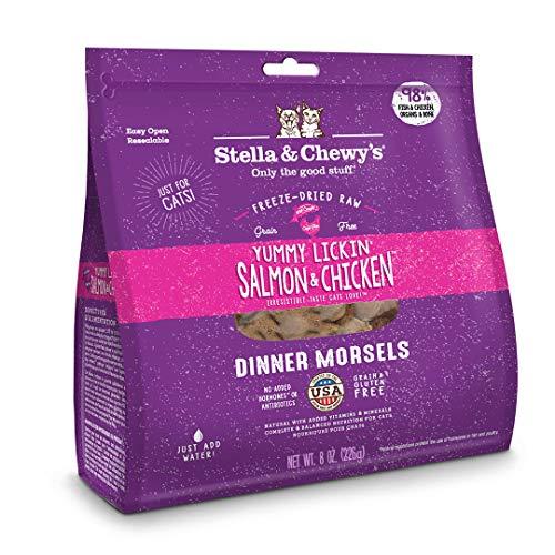 Stella & Chewy's Freeze-Dried Raw Sea-Licious Salmon & Cod Dinner Morsels Grain-Free Cat Food, 8 oz bag