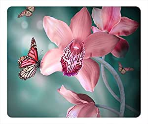 Galanthus Nivalis Design Rectangular Mouse Pad Beautifull Butterfly by icecream design