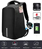 Anti-Theft Business Laptop Backpack with USB Charging Port Shockproof Waterproof Travel Book School