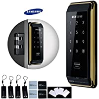 SAMSUNG SHS-D500 digital door lock keyless touchpad security EZON + Hook Style Drop Bolt + 4pcs of RFID Cards + 4pcs of Key Tags + 4pcs of Sticky Key Tags