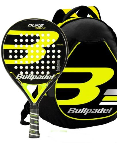 Kit Bull Padel Duke mochila + pala (Amarillo): Amazon.es ...