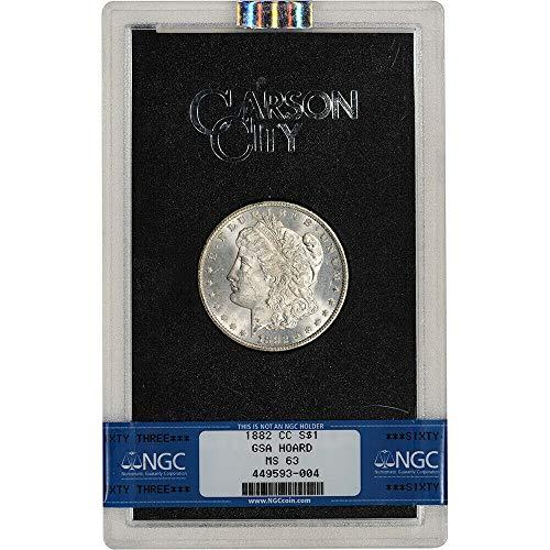 Ms63 Gold Coin - 1882 CC Carson City Morgan Silver Dollar GSA $1 MS-63 NGC