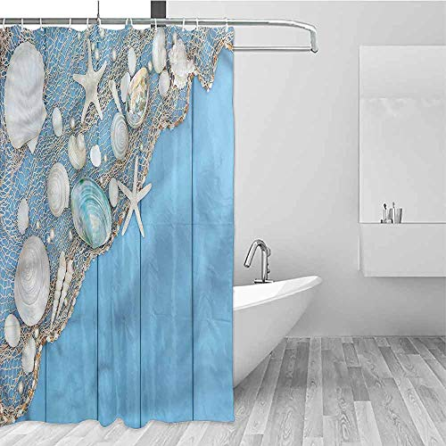 Easy to Hang, Bathroom Shower Curtains Water Proof Easy to Clean Custom Design Bathroom Decor, 72 inch Long, 72