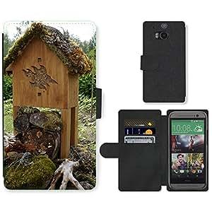 PU LEATHER case coque housse smartphone Flip bag Cover protection // M00130624 Insectos de la jerarquización // HTC One M8